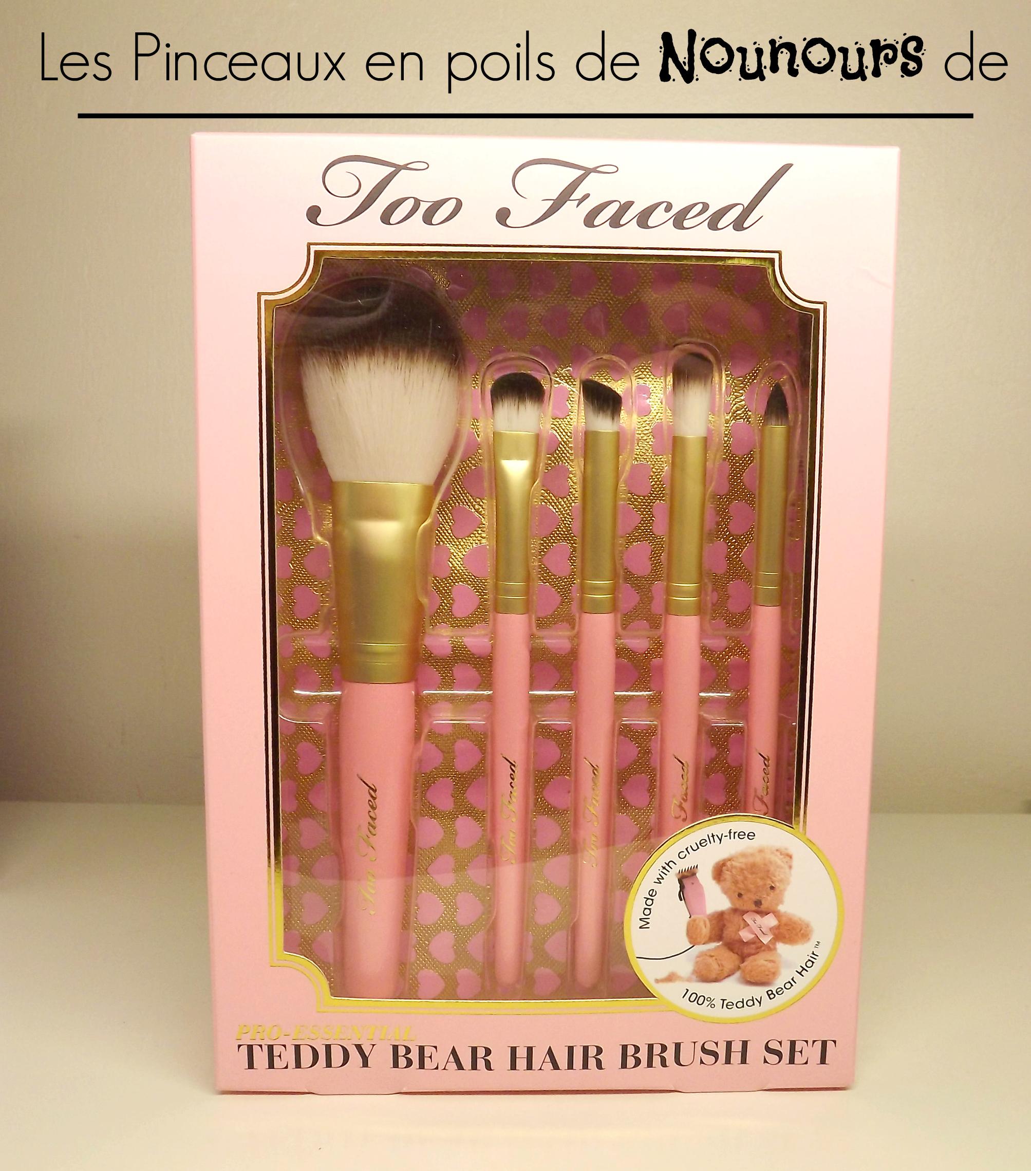 teddy bear hair brush set