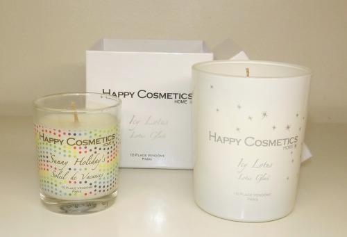 bougies happy cosmetics